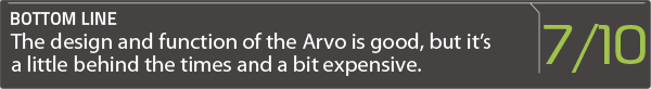 arvo review score box
