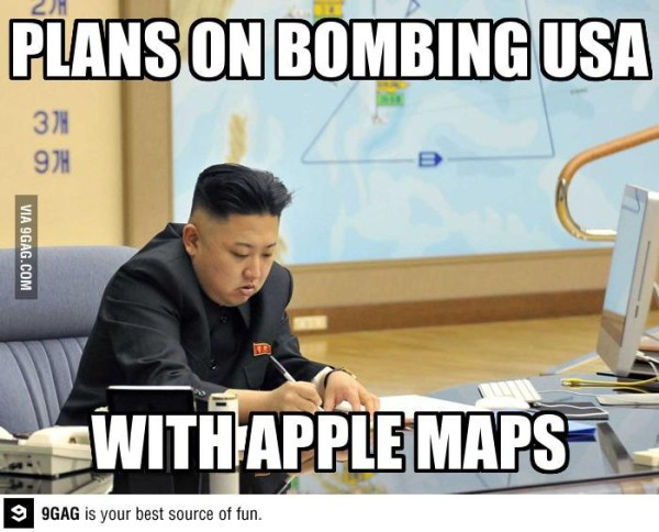 north korea apple maps