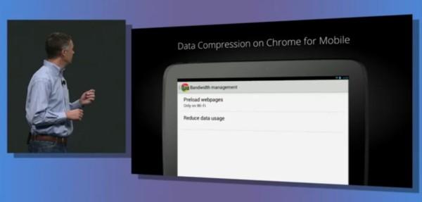 chrome mobile data compression