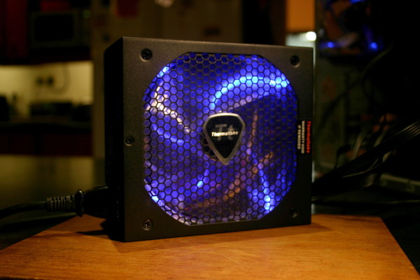 evo blue fan lit blue