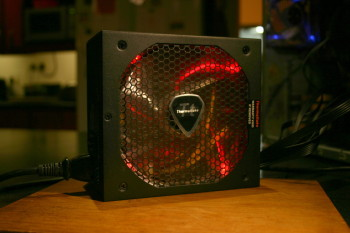 evo blue fan lit red