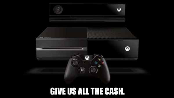 xbox one give us the cash header