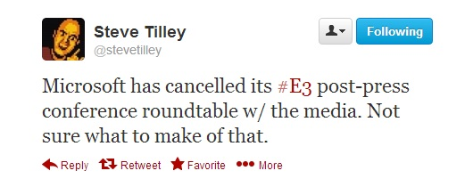 Steve Tilley Microsoft Xbox event cancelled
