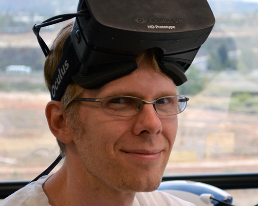 John Carmack is now involved in Rift development and game support.