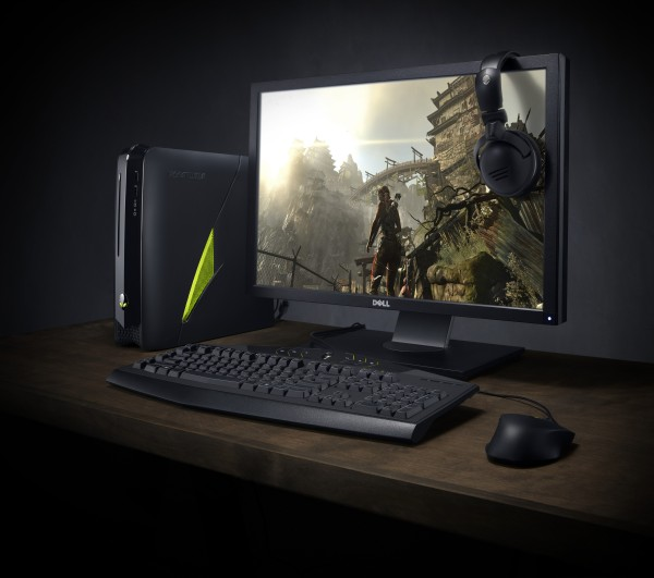 Alienware X51 (R2) on Desk with Peripherals