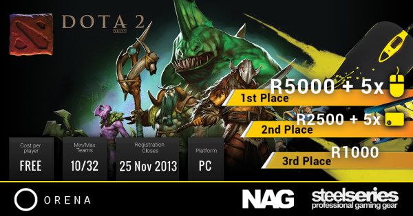 All three tournaments have decent prizes on offer.