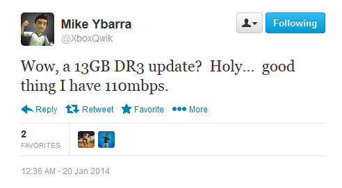 Mike Ybarra Xbone Dr3 update