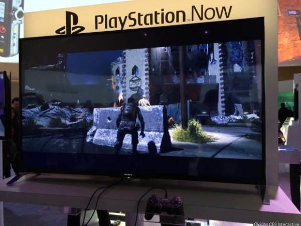 Sony Playstation Now on the CES 2014 showroom floor