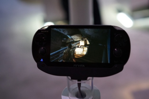 The Last of Us on a Playstation Vita running through Playstation Now