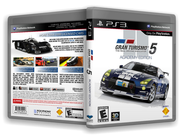 Gran Turismo 5 Academy Edition - because Polyphony  knows that you have crappy internet, Sony had crappy update mechanisms and they like having more money. Win-win?
