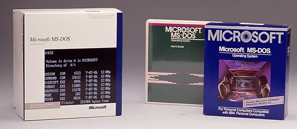 MS Dos retail boxes