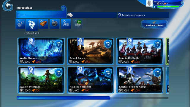 Project Spark Marketplace