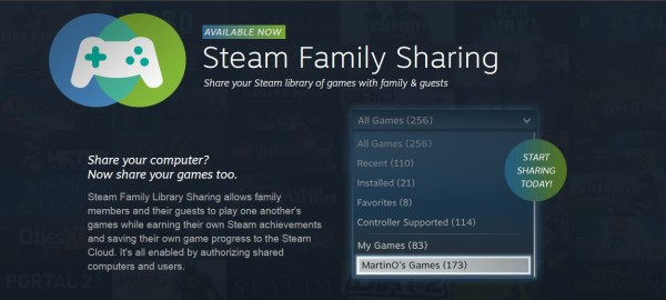 Steam family sharing header large