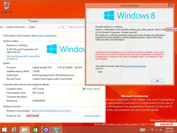 Windows 8 with bing desktop