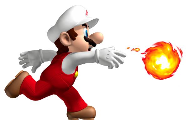 mario fire flower power