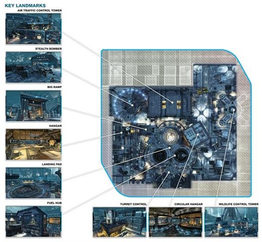 "A schematic view of map ""Airbase"""