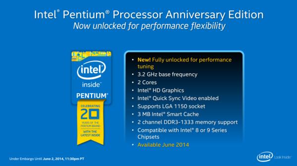 Intel Pentium G3258 benefits