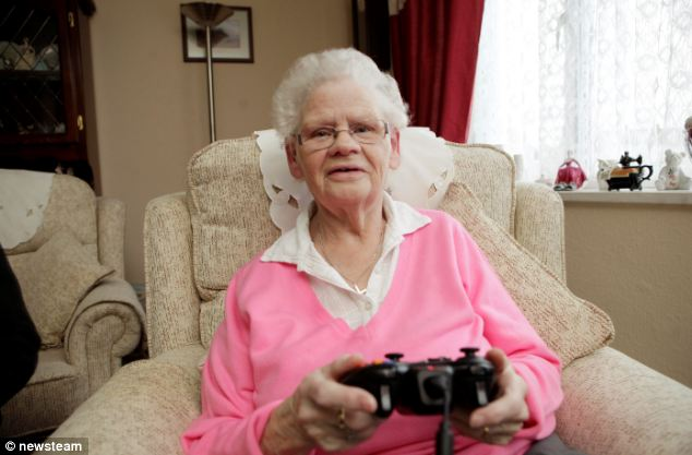 really sexy woman playing video games