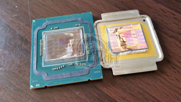 delidded Intel Core i7-5960X