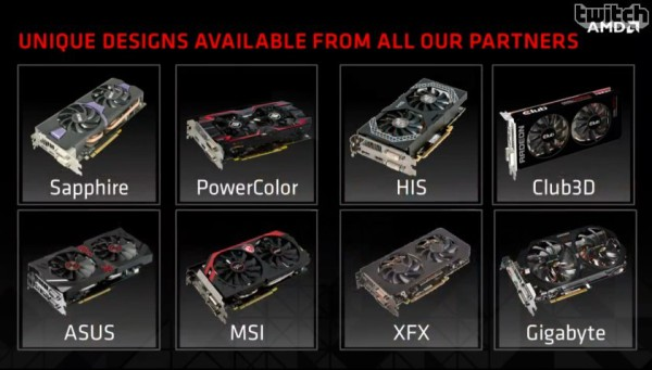 AMD Radeon R9 285 launch partners
