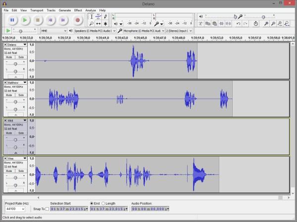 audacity podcast editing