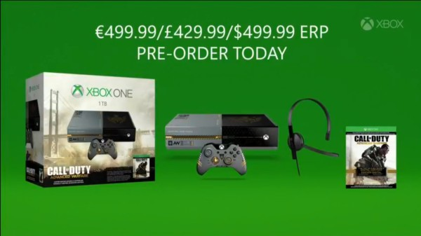 xbox one cod aw bundle