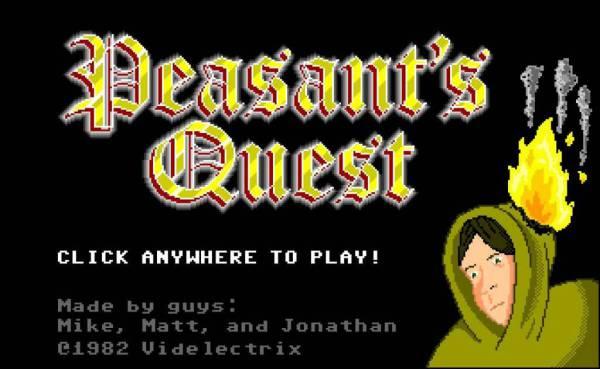 Peasant's Quest title