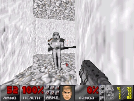 Doom with a Star Wars feel? Or Star Wars with a Doom feel?