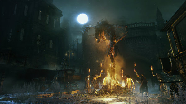 Bloodborne burning wolf