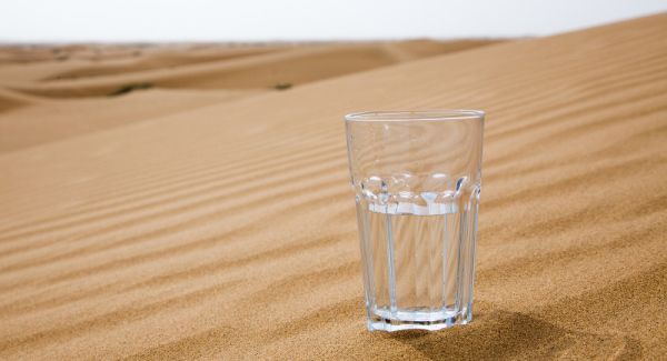 glass water desert