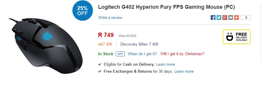 G402 sale takealot