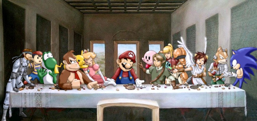 mario last supper art