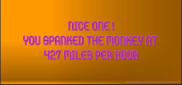 spank the monkey G402