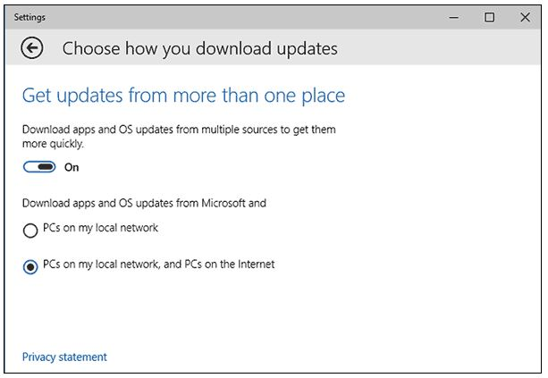 windows 10 p2p updates