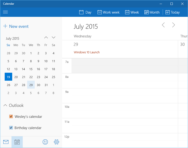 Calendar Apps For Windows : A final look at windows in beta part nag