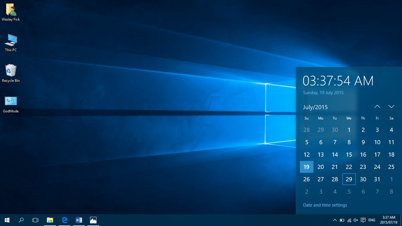 Calendar Wallpaper Windows : A final look at windows in beta part nag