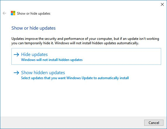 windows-10-hide-or-show-updates