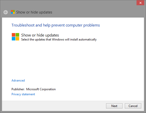 windows-8-show-or-hide-updates
