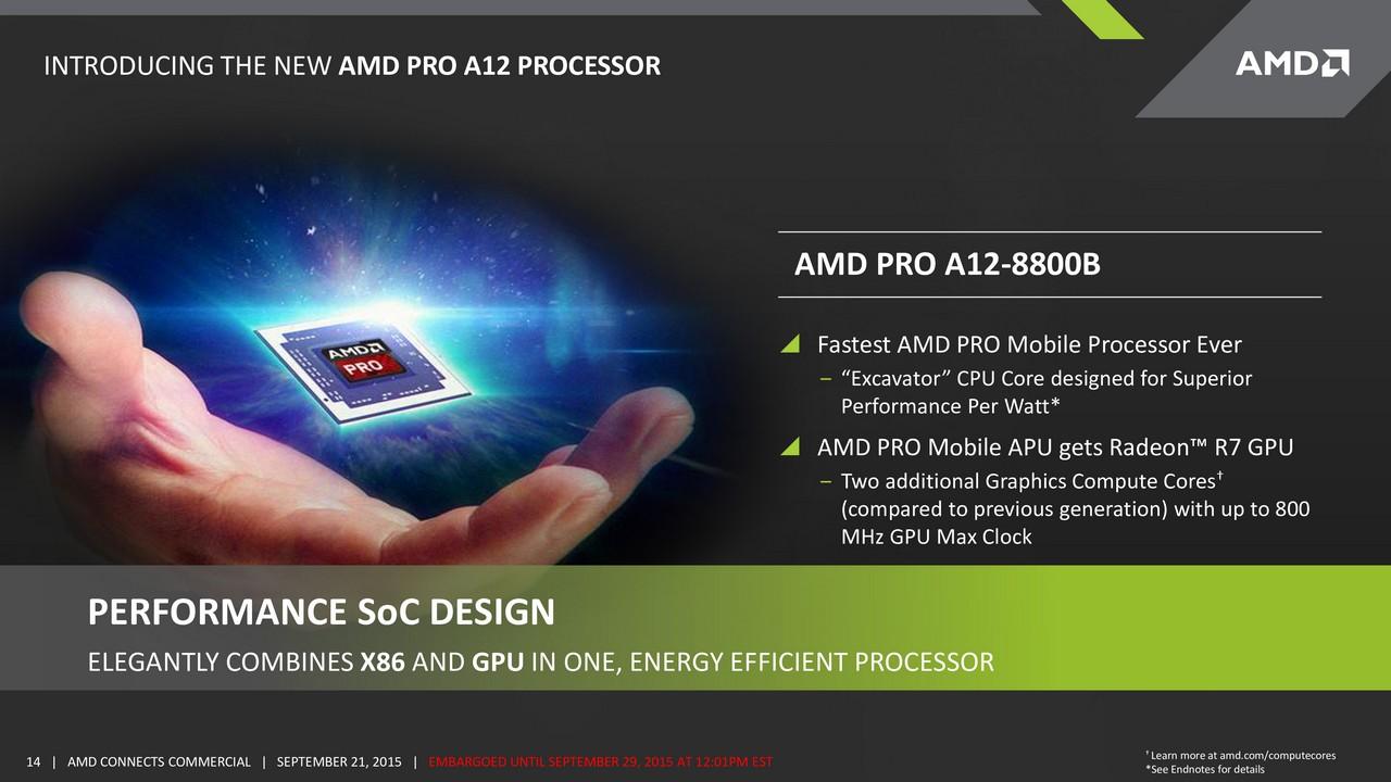 AMD announces Carrizo-based Pro APUs and new OEM design ...
