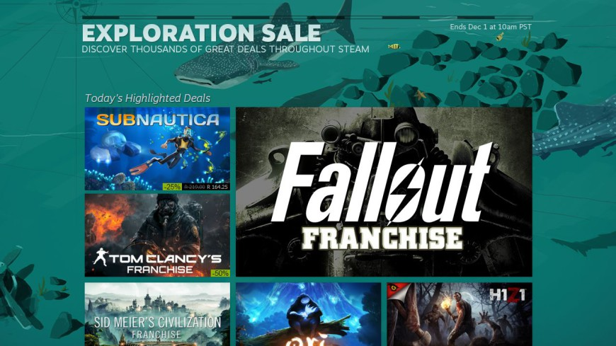 Steam Exploration Sale 2015