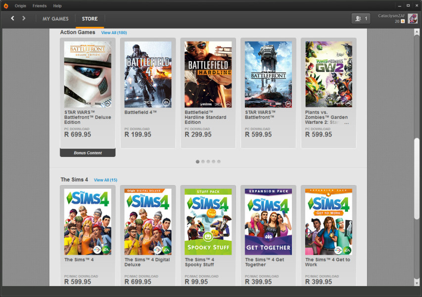 origin pricing