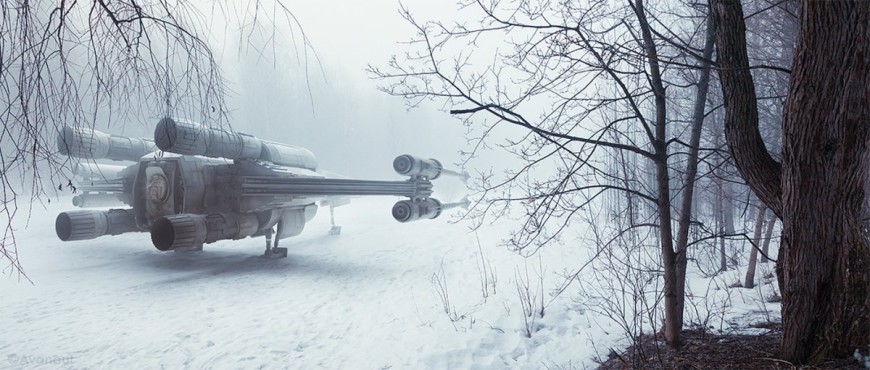 lehtimkis-favorite-shot-titled-my-kind-of-winter-wonderland-uses-a-124-scale-x-wing-fighter-thats-an-exact-part-for-part-replica-of-the-ones-used-for-filming-the-first-star-wars-movie