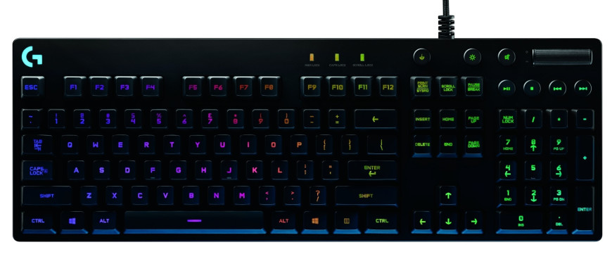 logitech orion g810 spectrum gaming keyboard led lights