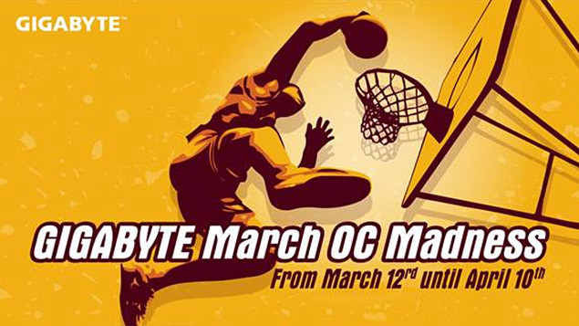 Gigabyte march oc madness competition
