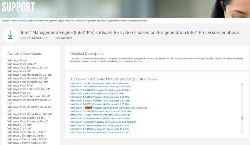 Intel Core i7 6950X leaK