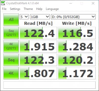 WD 1TB SSHD  Crystaldiskmark