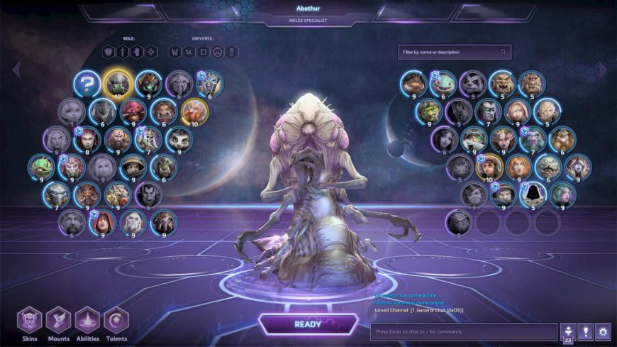 """Abathur says """"hero collection inadequate, must evolve."""""""