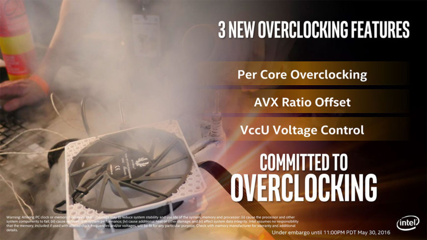 Intel Core i7 6950X overclocking