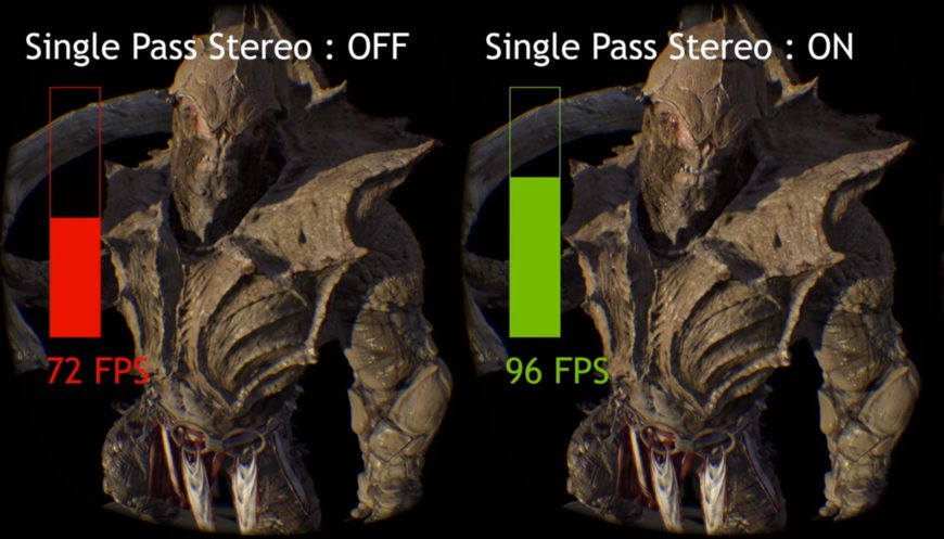 NVIDIA multi proj single pass stereo