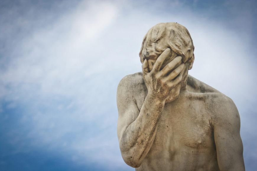 facepalm statue